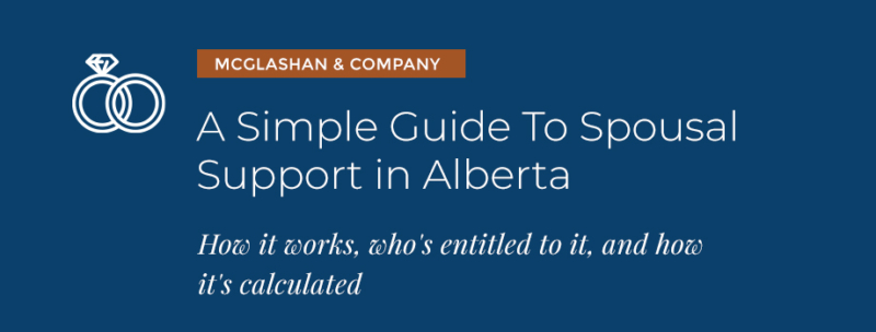 text graphic with spousal support in alberta title